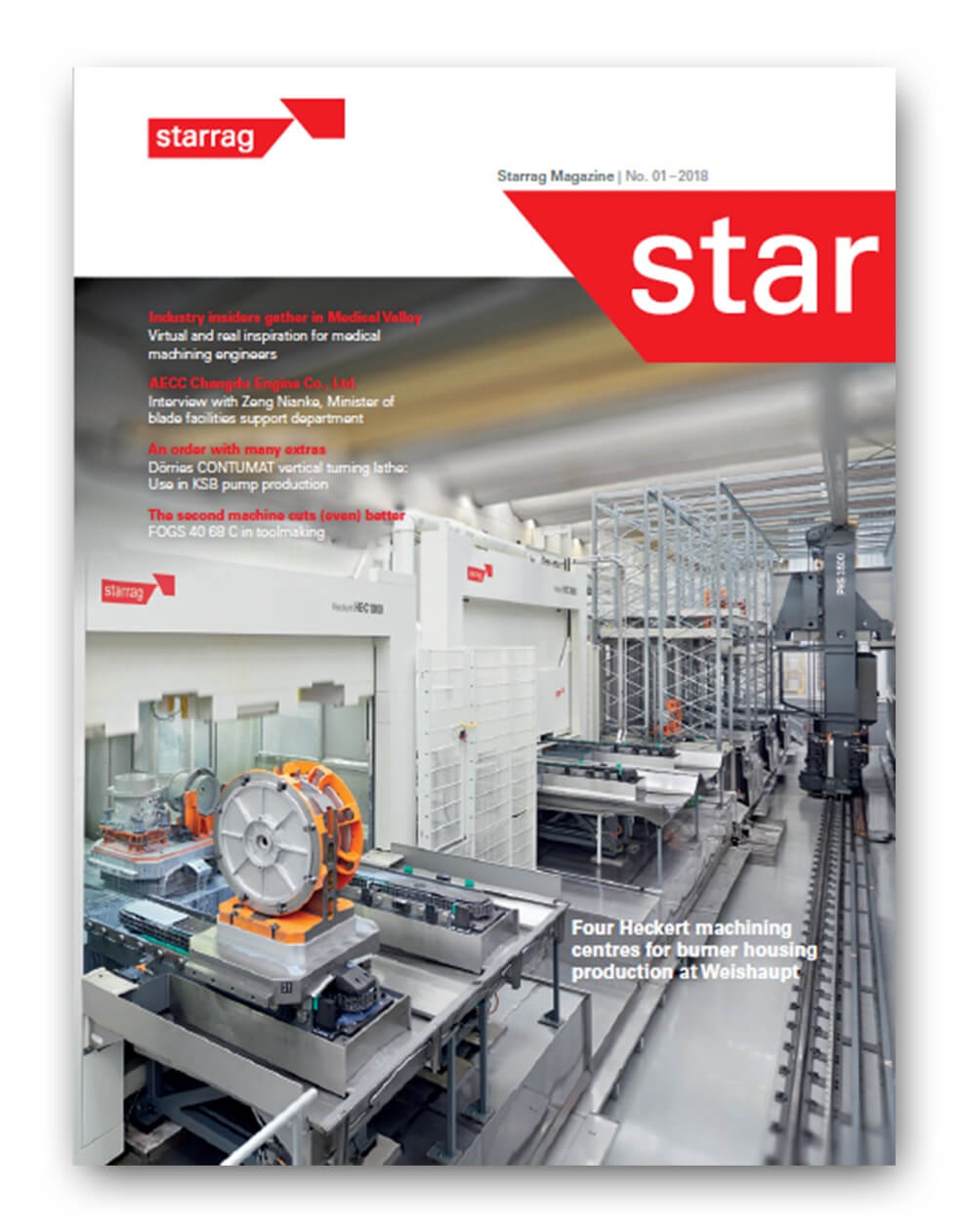 Cover Story: Four Heckert machining centres for burner housing production at Weishaupt