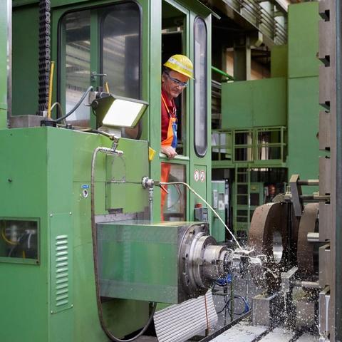 worker, rwe, service, machine
